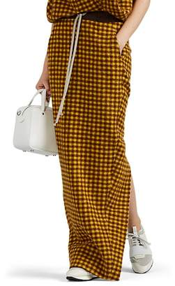 Rick Owens Women's Plaid Alpaca-Wool Drawstring Skirt