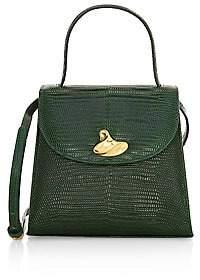 Little Liffner Women's Little Lady Swirl Lizard-Embossed Leather Top Handle Bag
