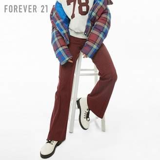 Forever 21 (フォーエバー 21) - Forever 21 ピンストライプストレートパンツ
