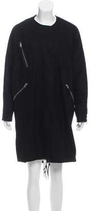 AllSaints Wool Oversize Coat