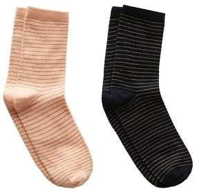 MANGO Pack 2 metallic socks