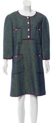 Chanel Quarter Sleeve Scoop Neck Dress Lime Quarter Sleeve Scoop Neck Dress