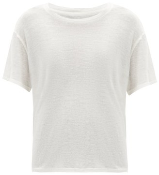 Frances De Lourdes - Johnny Round Neck Cashmere And Silk Blend T Shirt - Womens - Ivory