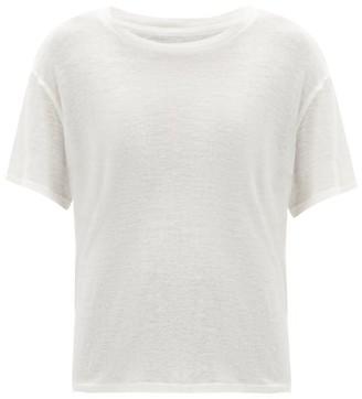 Frances De Lourdes - Johnny Round Neck Cashmere And Silk Blend T Shirt - Womens - Ivory