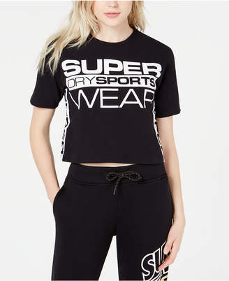 Superdry Cropped Cotton Graphic T-Shirt