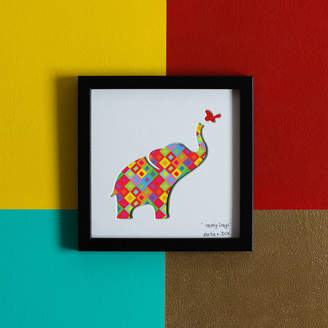 Bertie & Jack 'Happy Days' Elephant Birthday Gift Artwork