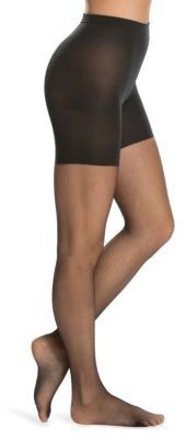 Spanx Uptown Tight-End Micro-Fishnet Tights $42 thestylecure.com