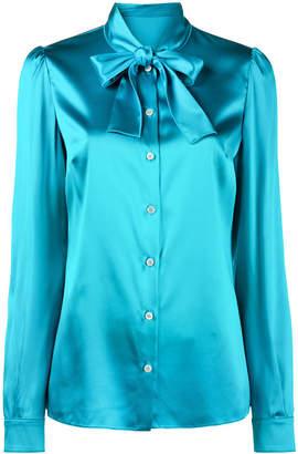 Dolce & Gabbana tie-neck silk blouse