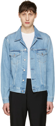 Acne Studios Blue Denim Who Jacket $350 thestylecure.com