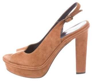 Castaner Suede Slingback Sandals