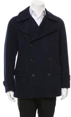 Dries Van Noten Double-Breasted Wool Peacoat w/ Tags