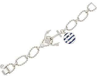 C. Wonder Anchor Bracelet with Enamel CharmandFoldover Clasp
