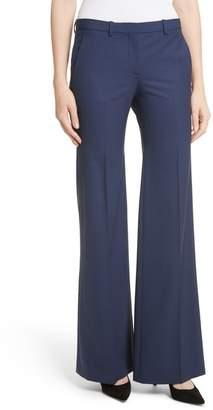 Theory Demetria 2 Flare Leg Good Stretch Wool Suit Pants