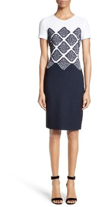 Women's St. John Collection Ahem Knit Fil Coupe Dress $1,195 thestylecure.com