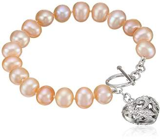 Bella Pearl Heart Toggle Bracelet