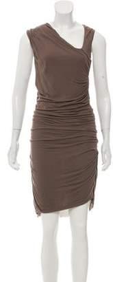 Helmut Lang Ruched Asymmetrical Dress