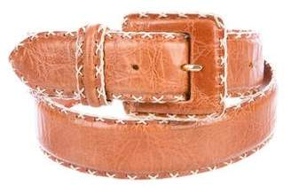 Max Mara Leather Buckle Belt