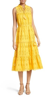 Women's Kate Spade New York Eyelet Embroidered Patio Dress $478 thestylecure.com