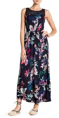 Joe Fresh Crochet Lace Yoke Maxi Dress