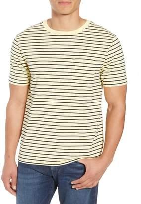 Frame Slim Fit Striped Pocket T-Shirt