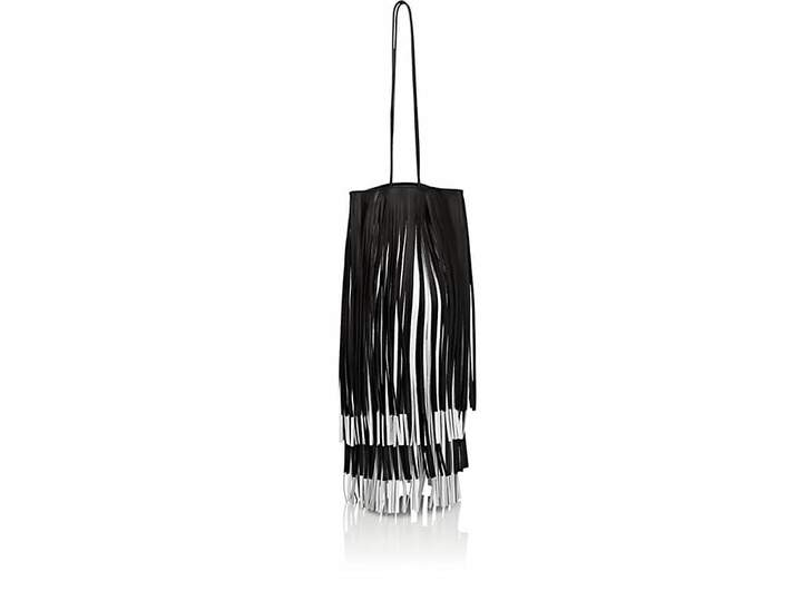 CALVIN KLEIN 205W39NYC Women's Fringed Leather Bucket Bag