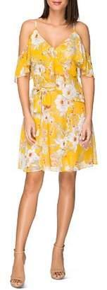 Bobeau B Collection by Stello Cold-Shoulder Floral-Print Dress