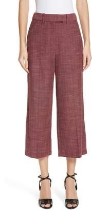 Veronica Beard Madds Herringbone Wool Blend Trousers