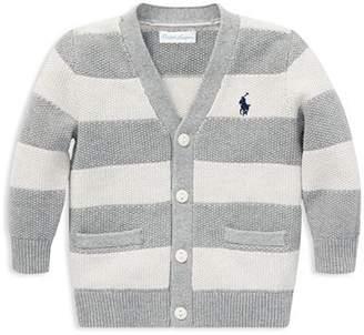 Ralph Lauren Boys' Striped Cotton V-Neck Cardigan - Baby