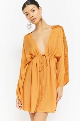 Forever 21 Boho Me Crochet Lace Mini Dress