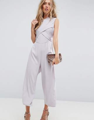 Asos Jumpsuit with Wrap Front and Tie Back