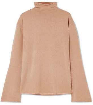 Theory Cashmere Turtleneck Sweater - Camel