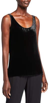 Eileen Fisher Plus Size Velvet Scoop-Neck Tank Top