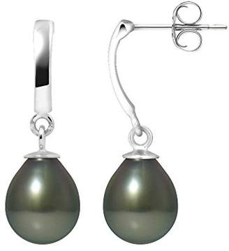 At Co Uk Pearls Colors Colours Tahitian Cultured Pearl Drop Earrings 9 Ct White