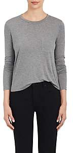 Alexander Wang Women's Long-Sleeve Crewneck T-Shirt - Gray