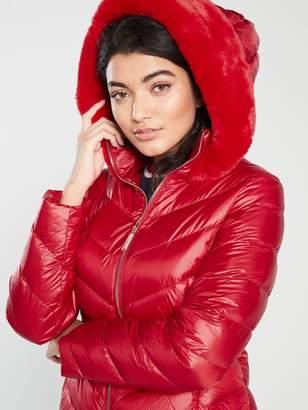 Ted Baker Laiya Light Weight Padded Jacket- Red