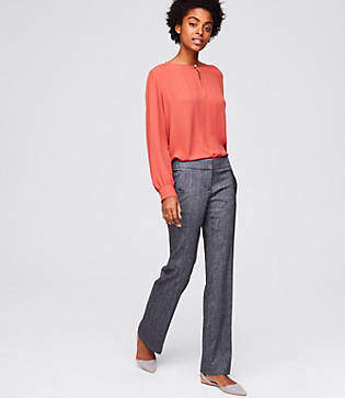 LOFT Trousers in Button Pocket in Marisa Fit