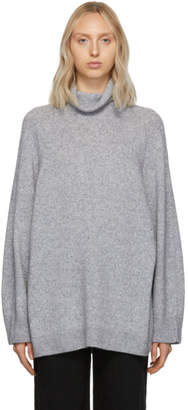 The Row Grey Cashmere Mandel Turtleneck