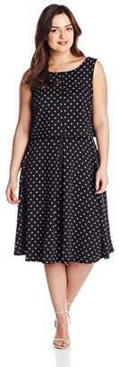 Julian Taylor Women's Plus Size Sleeveless Printed 2 Piece Crop Dress