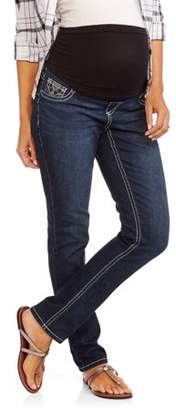Zanadi Maternity Full Panel Skinny Jean Bling Back Pocket