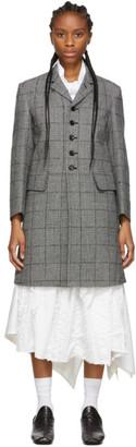 Comme des Garcons Black and White Glen Check Coat