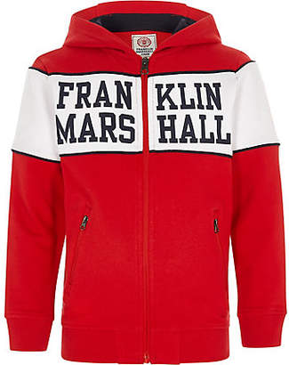 River Island Boys Franklin & Marshall red zip up hoodie