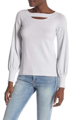 Minnie Rose Cut Out Lurex Sweater