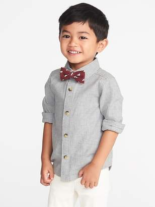 Old Navy Twill Shirt & Bow-Tie Set for Toddler Boy
