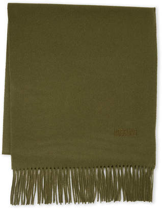 Moschino Fringe Wool Scarf