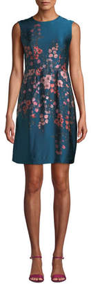 Nanette Lepore Glasgow Silk Dress w/ Flowers