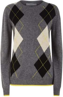 Pringle Argyle Print Sweater