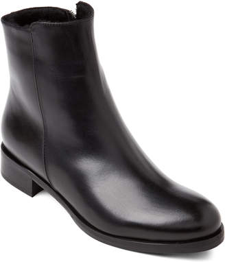 Luca Grossi Black Real Fur-Lined Leather Ankle Boots