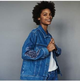 Maje Denim Jacket With Embroidery