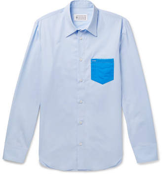 Maison Margiela Slim-Fit Pvc-Trimmed Cotton-Poplin Shirt