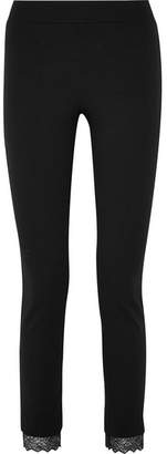 Wolford Samantha Lace-trimmed Stretch-jersey Leggings - Black